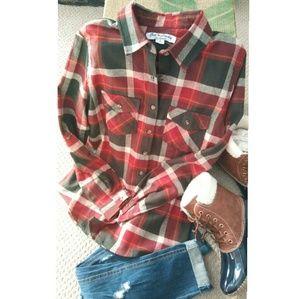 get 💓Lucky  Plaid Shirt